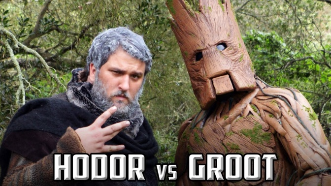Hodor vs Groot: Epic Rap Battle Video