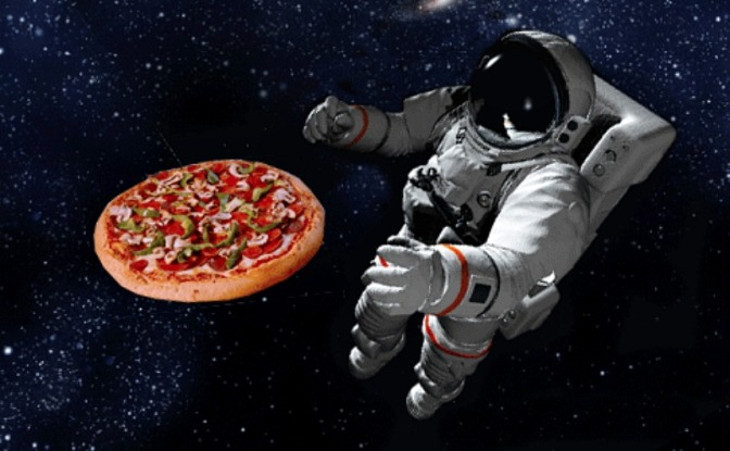 How much will it cost to deliver a pizza to the International Space Station?