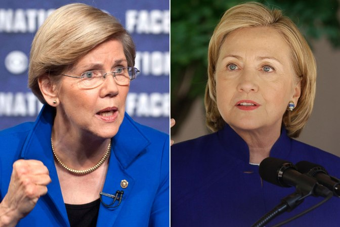 Who has a better chance of being elected as president, Hillary Clinton or Elizabeth Warren?