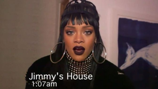 Rihanna Pranks Jimmy Kimmel Late at Night! (Video)