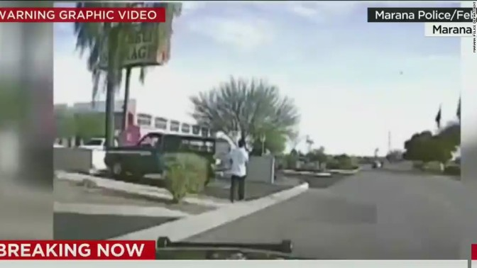Arizona officer intentionally running over suspect on Dashcam Video! (Warning: Graphic Footage)